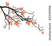 autumnal branch | Shutterstock .eps vector #63143446