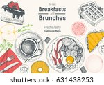 breakfasts and brunches top... | Shutterstock .eps vector #631438253
