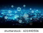 people network connection on... | Shutterstock . vector #631440506
