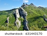 top of rocky dolomites mountain ... | Shutterstock . vector #631443170