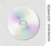 isolated cd disk on... | Shutterstock .eps vector #631444028