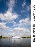 white ship under the sunny... | Shutterstock . vector #631444100