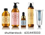 make up and skincare packaging... | Shutterstock .eps vector #631445033