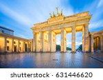 Stock photo the long exposure image of brandenburg gate in berlin city germany 631446620