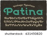 vintage font with textured... | Shutterstock .eps vector #631450820