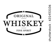 whiskey vintage stamp sign | Shutterstock .eps vector #631453106