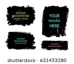 set of black paint  ink brush... | Shutterstock .eps vector #631453280