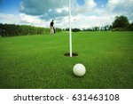 golf play with focused ball and ... | Shutterstock . vector #631463108