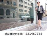 beautiful business woman in... | Shutterstock . vector #631467368
