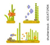 beautiful set of elements of... | Shutterstock .eps vector #631471904