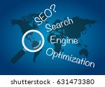 seo search engine optimization. ... | Shutterstock .eps vector #631473380