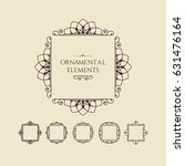 calligraphic frame design... | Shutterstock .eps vector #631476164