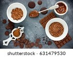 chocolate buttercream with...   Shutterstock . vector #631479530