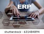 enterprise resources planning... | Shutterstock . vector #631484894