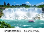 Beautiful Niagara Falls on a clear sunny day. Niagara, Canada