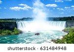 beautiful niagara falls on a... | Shutterstock . vector #631484948