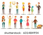 lucky situations flat set of... | Shutterstock .eps vector #631484954