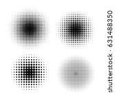 halftone circle gradient vector ... | Shutterstock .eps vector #631488350