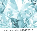 realistic diamond texture close ... | Shutterstock . vector #631489013