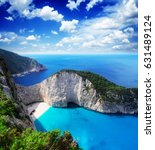 navagio beach  famous lanscape... | Shutterstock . vector #631489124