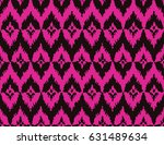 seamless black and magenta pink ... | Shutterstock . vector #631489634