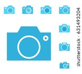 set of photo camera icon or... | Shutterstock .eps vector #631493204