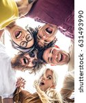 group of friends bonding and... | Shutterstock . vector #631493990