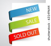 set of paper tags for new  sold ... | Shutterstock .eps vector #63149644