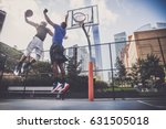 two afroamerican athletes... | Shutterstock . vector #631505018