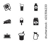 icons for theme dairy products. ... | Shutterstock .eps vector #631506233