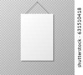 vector realistic empty paper... | Shutterstock .eps vector #631510418