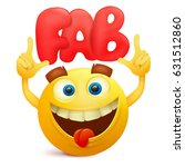 yellow emoticon cartoon... | Shutterstock .eps vector #631512860