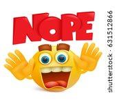 yellow emoticon cartoon... | Shutterstock .eps vector #631512866