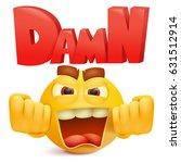 yellow smiley cartoon emoji... | Shutterstock .eps vector #631512914