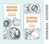 breakfast and brunches vintage... | Shutterstock .eps vector #631514369