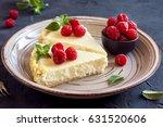 homemade cheesecake with fresh... | Shutterstock . vector #631520606