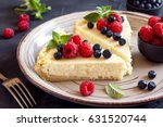 homemade cheesecake with fresh... | Shutterstock . vector #631520744