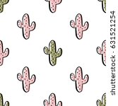 seamless pattern with cactus   Shutterstock .eps vector #631521254
