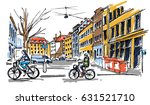 street sketch | Shutterstock .eps vector #631521710