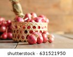 red onion on wooden table... | Shutterstock . vector #631521950