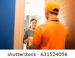 asian woman accepting a... | Shutterstock . vector #631524056