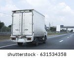 truck on road container ... | Shutterstock . vector #631534358