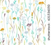 vector seamless pattern with... | Shutterstock .eps vector #631536050