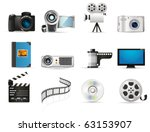 photo and video icons | Shutterstock .eps vector #63153907