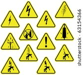 Set Of Electricity Signs...