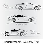 car rent abstract lines vector. ... | Shutterstock .eps vector #631547270