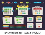 game ui | Shutterstock .eps vector #631549220