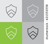 web line icon. shield. | Shutterstock .eps vector #631553558