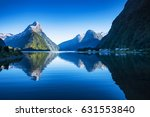 clear sky in milford sound ... | Shutterstock . vector #631553840