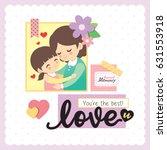 happy mother's day scrapbooking ... | Shutterstock .eps vector #631553918